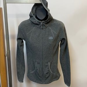 The North Face hooded fleece gray.  XS